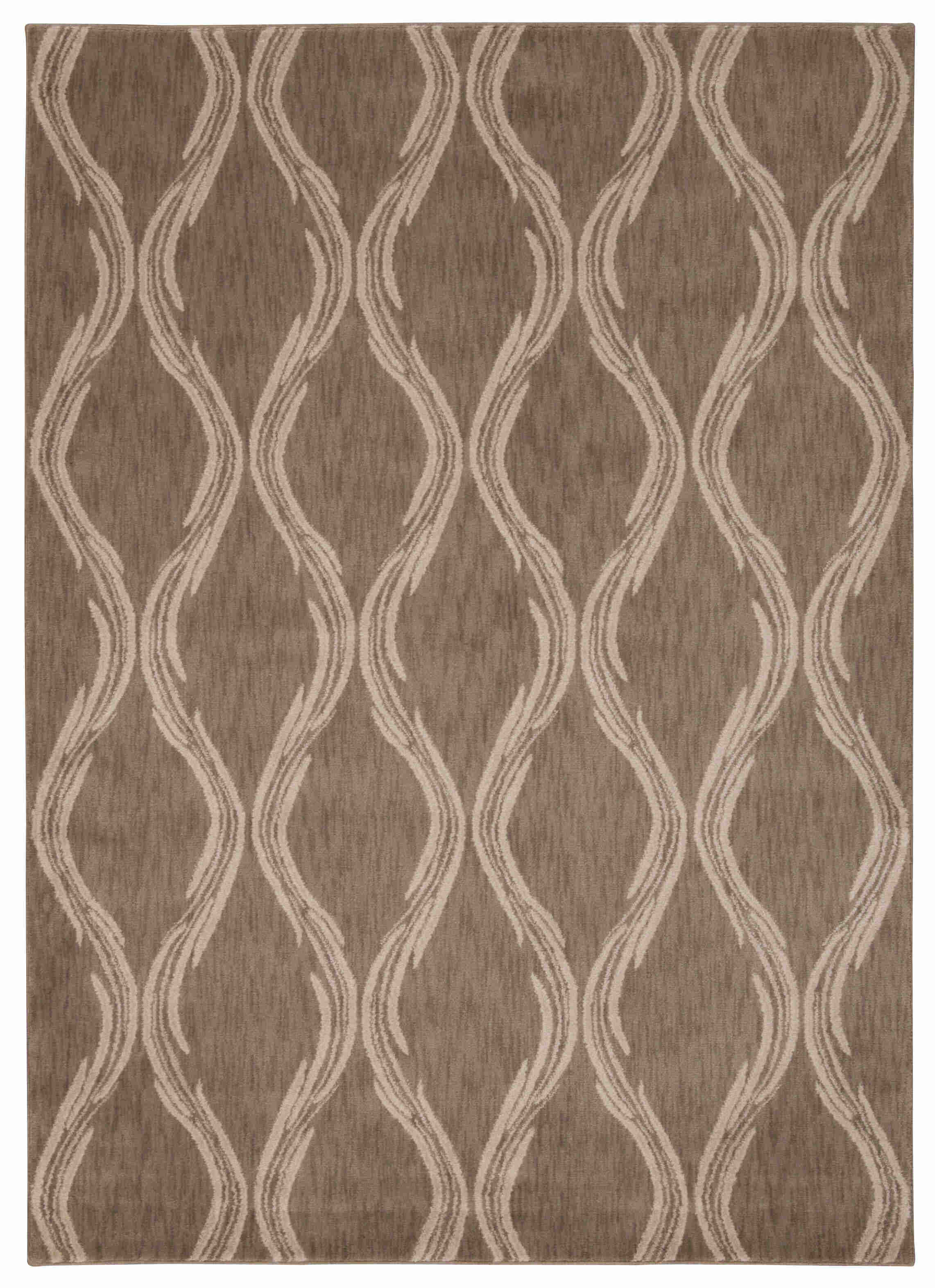 Tranquility Machine Woven Taupe Area Rugs