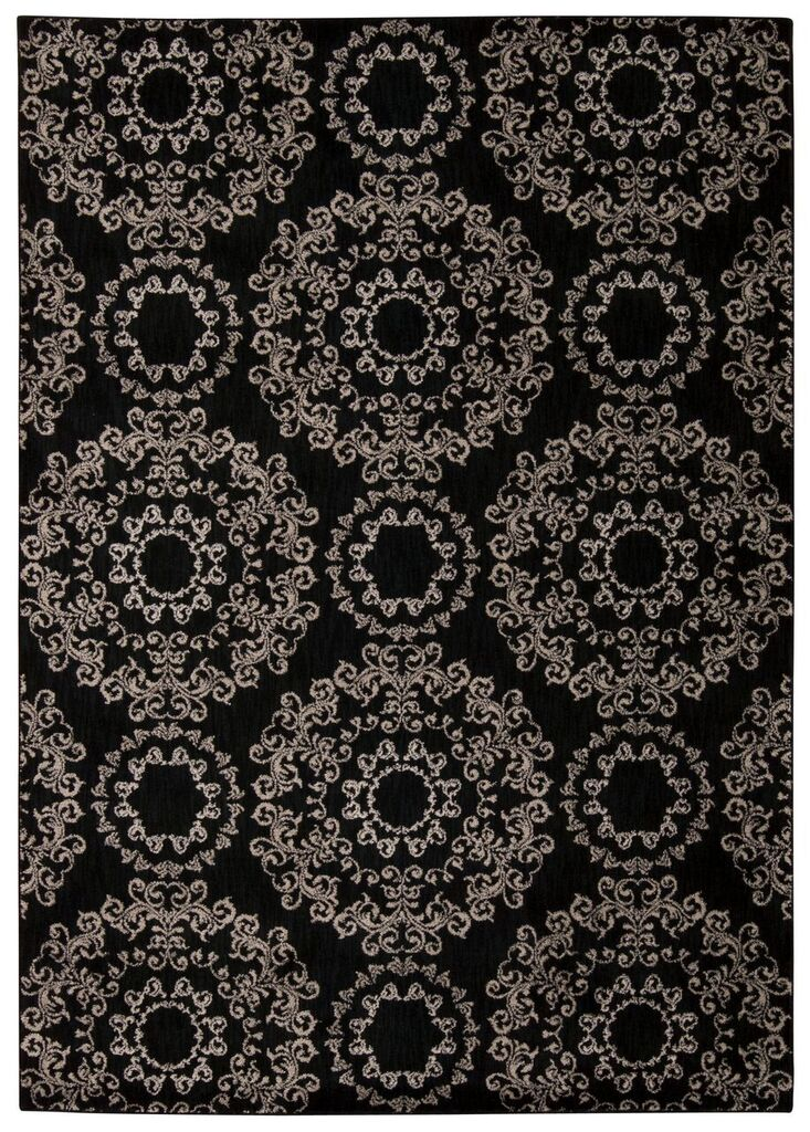 Tranquility Machine Woven Black Area Rugs