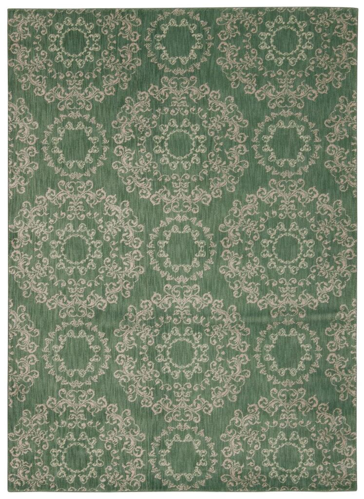 Tranquility Machine Woven Light Green Area Rugs