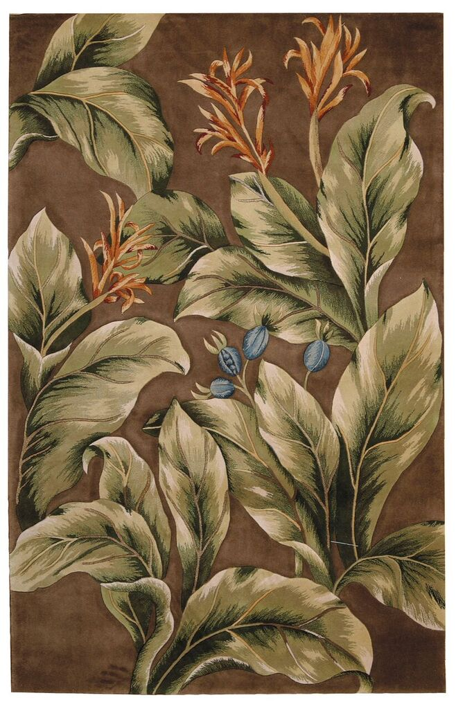 Tropics Hand Tufted Khaki Area Rugs