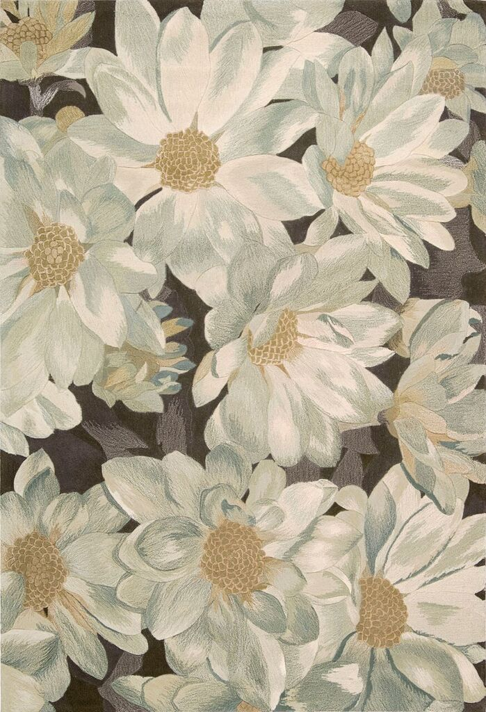 Tropics Hand Tufted Mocha Area Rugs