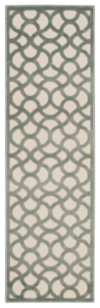 Ultima Machine Woven Ivory Aqua Area Rugs