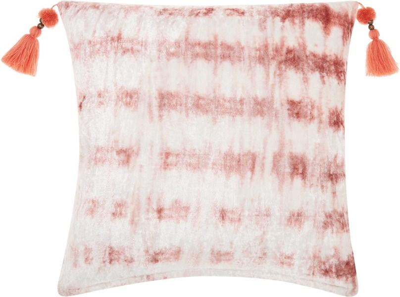 Mina Victory Life Styles Velvet Tie Dye Rose Throw Pillow