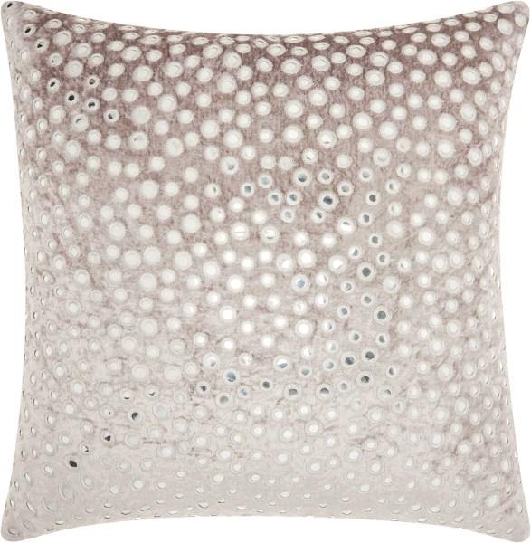 Mina Victory Life Styles Velvet Mirrors Grey Throw Pillow