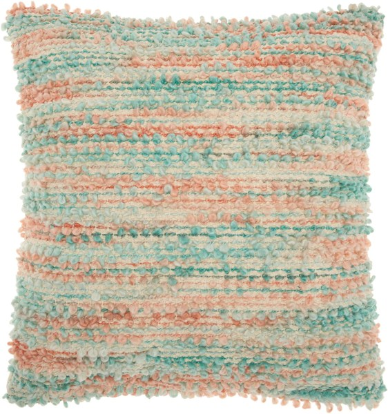 Mina Victory Life Styles Space Dyed Woven Multicolor Throw Pillow