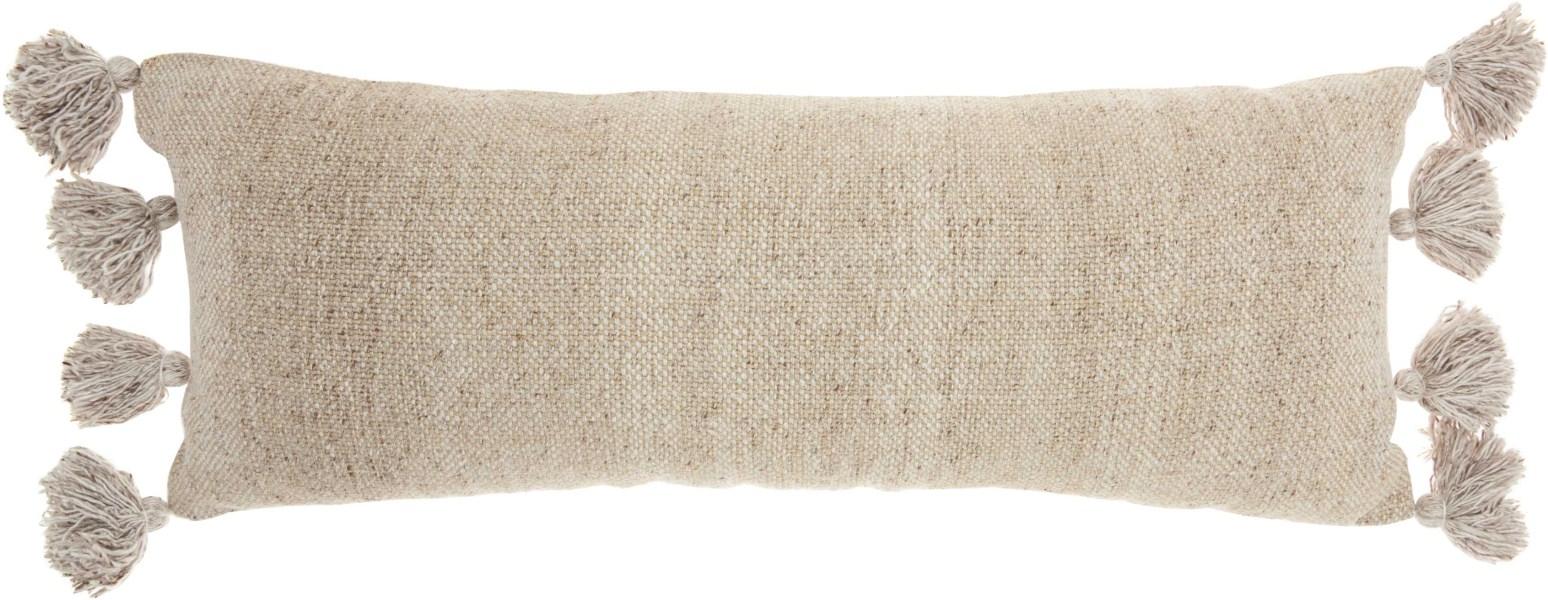 Mina Victory Life Styles Tassel Border Beige Throw Pillow