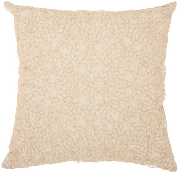 Mina Victory Life Styles Crochet Linen Throw Pillow