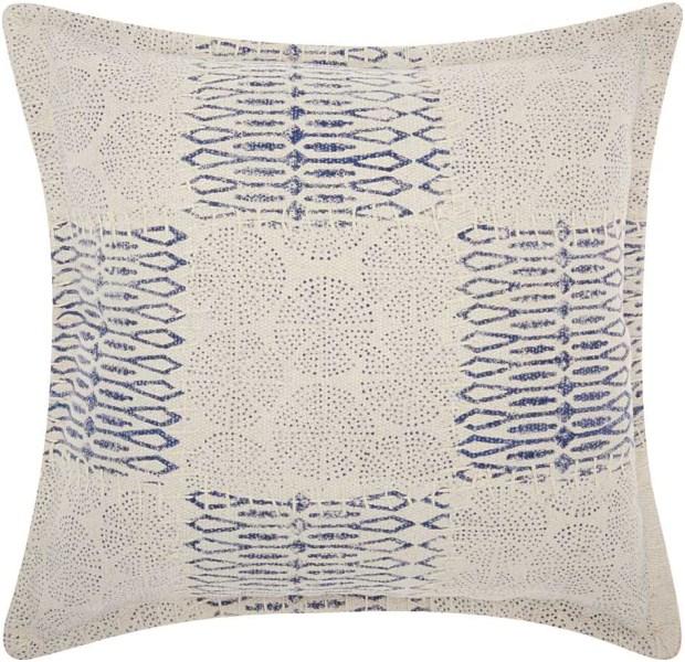Mina Victory Life Styles Patchwork Circles Indigo Throw Pillow