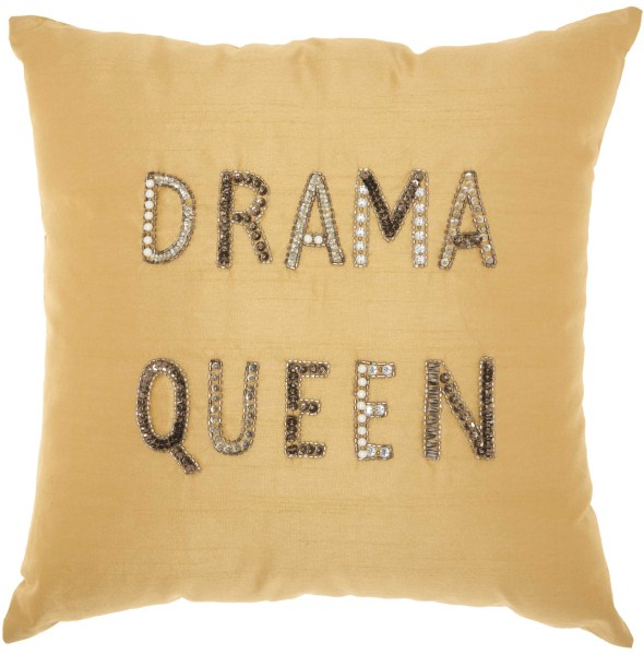 Mina Victory Luminecence Drama Queen Champagne Throw Pillow