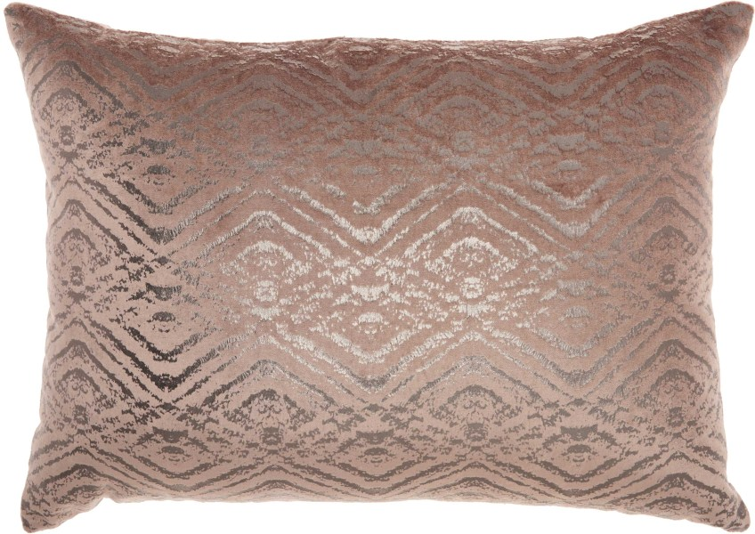 Mina Victory Luminecence Metallic Diamonds Nude Throw Pillow