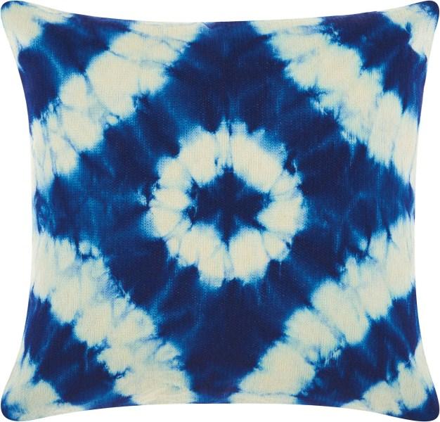 Mina Victory Allegria Tie Dye Indigo Throw Pillow
