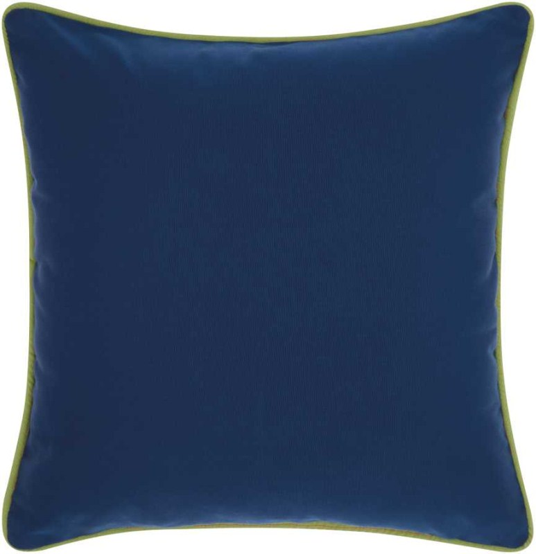 Mina Victory  Three Color Solid & Cord Coral Navy Outdoor Throw Pillow