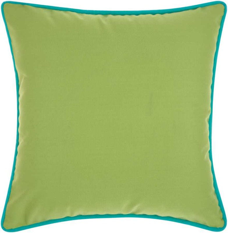 Mina Victory  Three Color Solid & Cord Green Coral Outdoor Throw Pillow