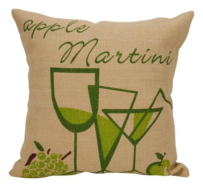 Mina Victory Life Styles Apple Martini Natural Throw Pillow