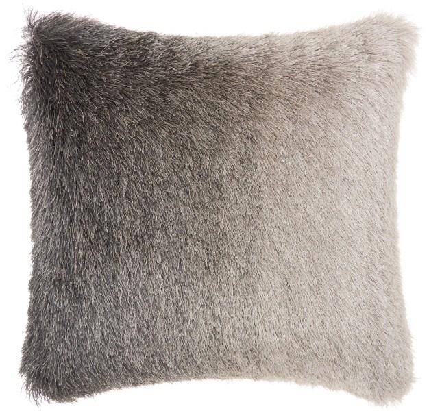 Mina Victory  Illusion Charcoal Shag Throw Pillow