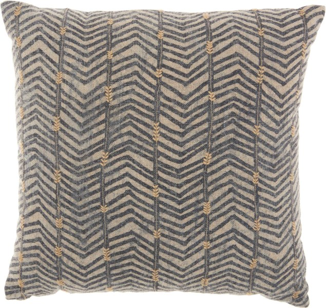 Studio Nyc Print With Arrow Embroidery Linen Throw Pillow