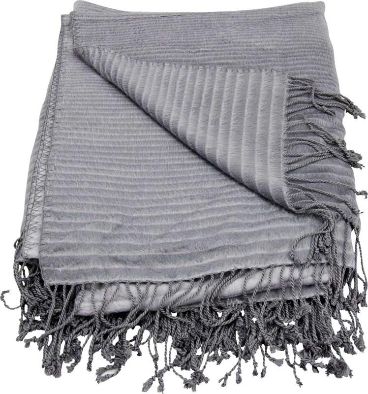 Mina Victory Throw Progression Stripe Throw Steel Grey Throw Blanket