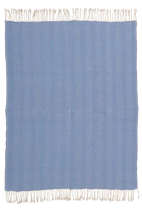 Mina Victory Throw Organic Cotton Throw Cayan Blue Throw Blanket