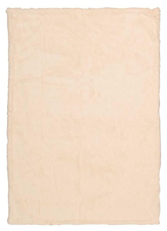 Mina Victory Throw Faux Rabbit Throw Ivory Throw Blanket
