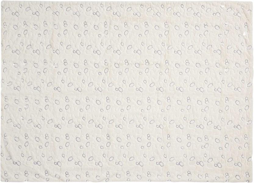 Mina Victory Fur Circle Sequin Ivory Throw Blanket
