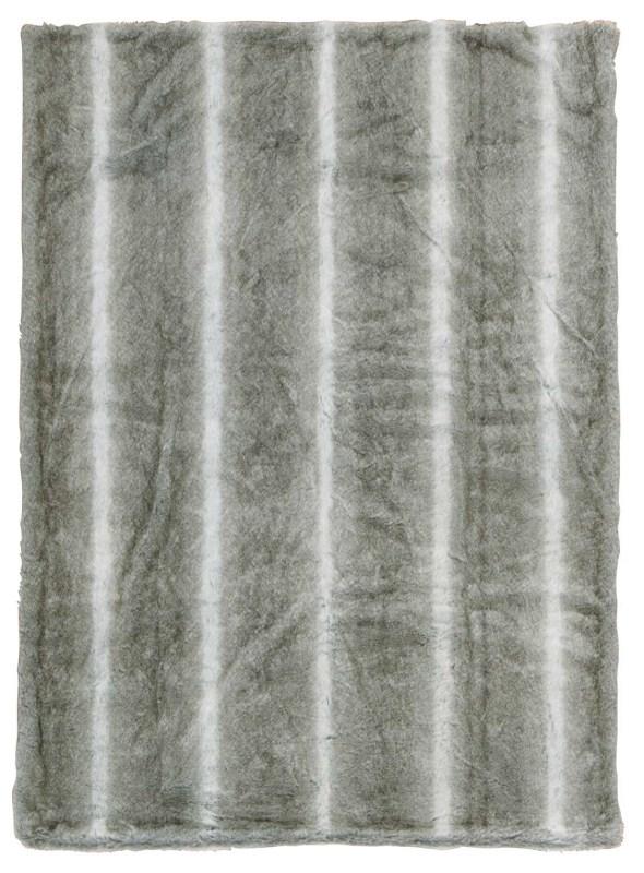 Mina Victory Throw Faux Wolf Throw Silver Grey Throw Blanket
