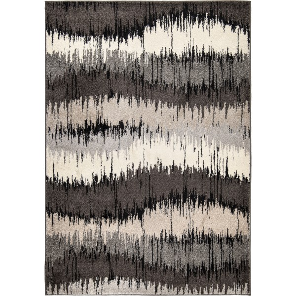 Orian American Heritage Brushed Waves Grey Area Rug