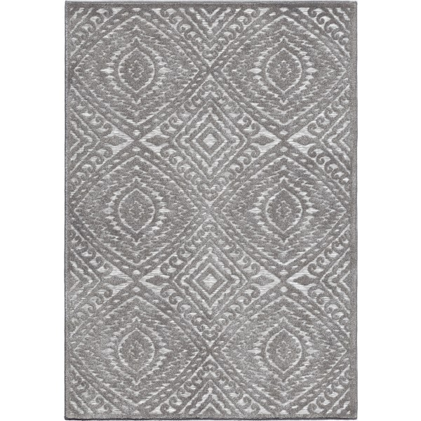 Orian Farmhouse Boucle Indoor/Outdoor Acena Silverton Area Rug