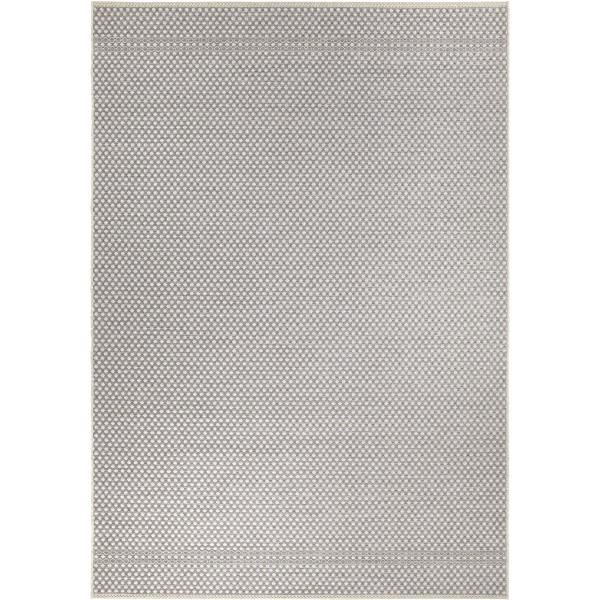 Orian Jersey Home Indoor/outdoor Checkmate Gray Area Rug