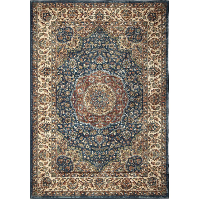 Rochester Navy Machine Woven Area Rug
