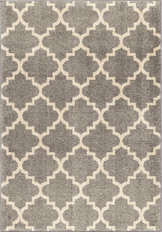 Orian Rugs Geometric Trellis Ginter Gray Area Rug (5'3
