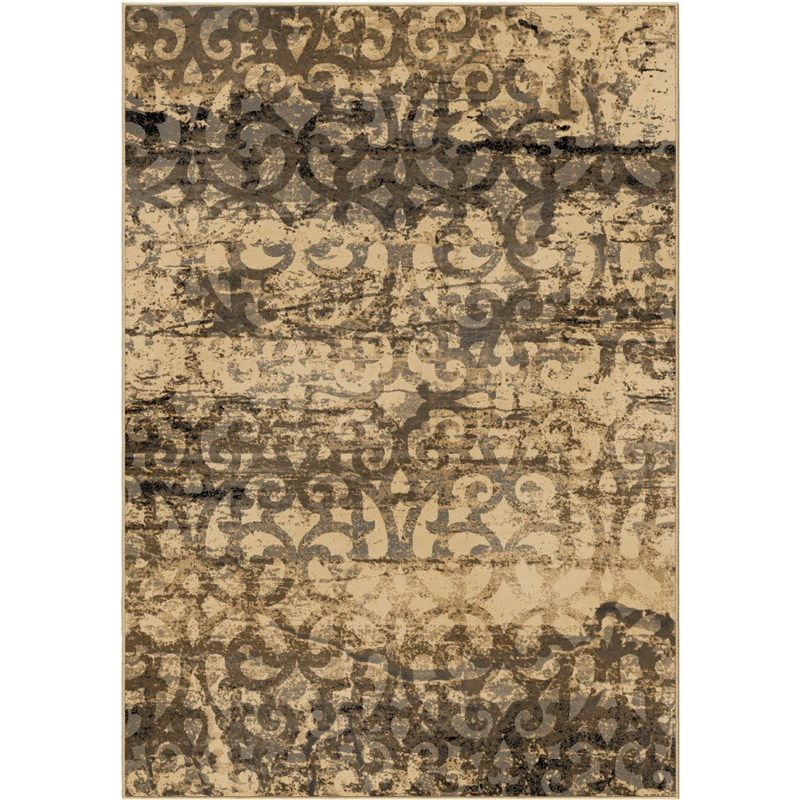 American Heirloom Machine Woven Beige Area Rugs