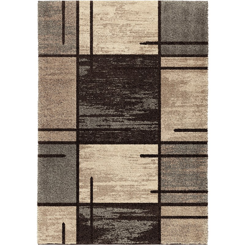 American Heritage Machine Woven Gray Area Rugs