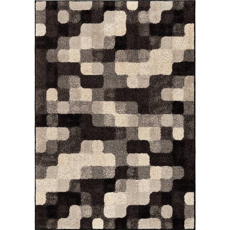 Orian Rugs Geometric Geometric Halo Blocks Gray Area Rug 7'10 X 10'10