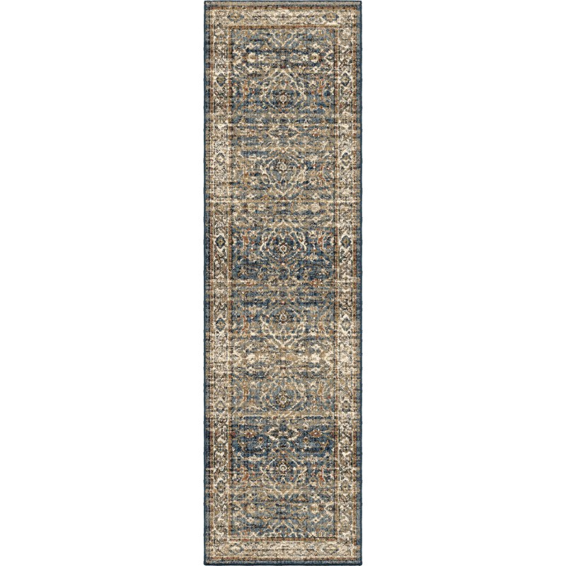 Ansley Light Blue Machine Woven Area Rug