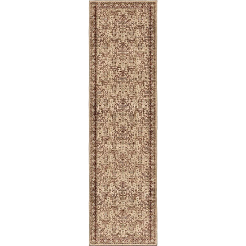 Persian Forest Bisque Machine Woven Area Rug