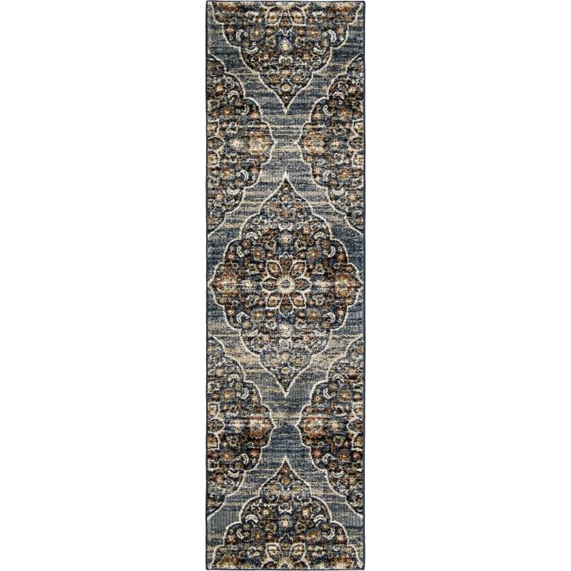 Persia Indigo Machine Woven Area Rug