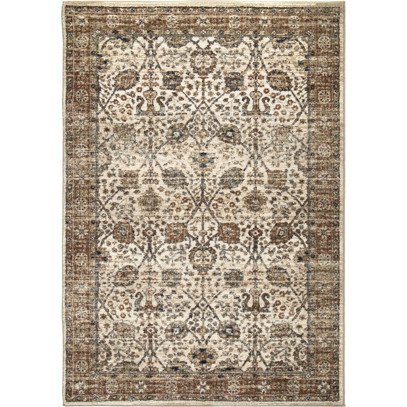 Tree Of Life Off White Machine Woven Area Rug