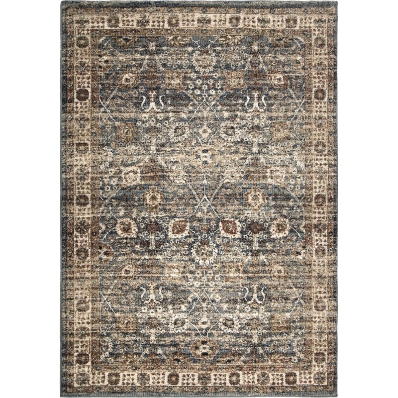 Tree Of Life Indigo Machine Woven Area Rug