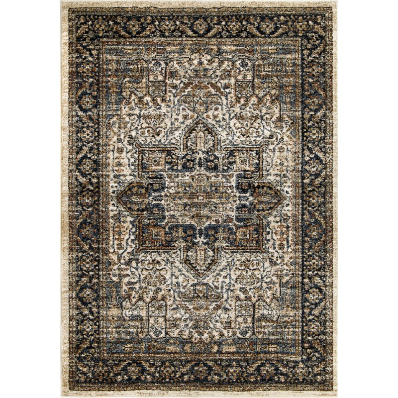 Ushak Off White Machine Woven Area Rug