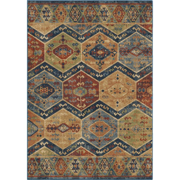 Orian Ingrid Navy Area Rugs