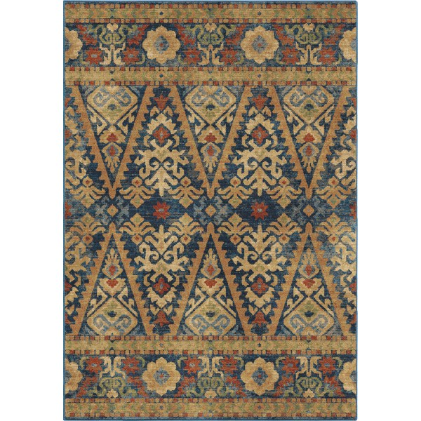 Orian Bremer Navy Area Rugs