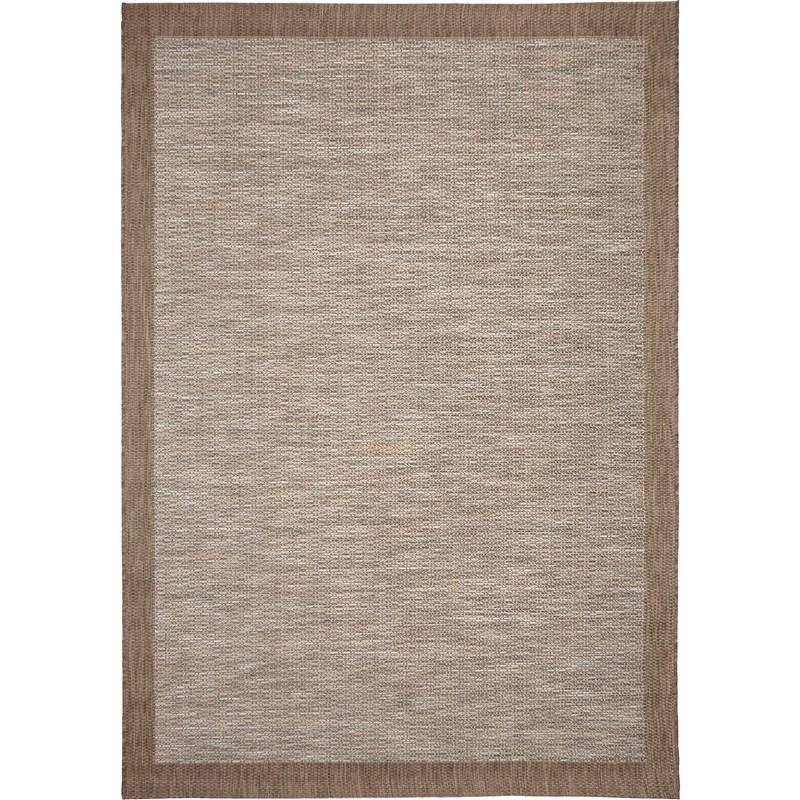 Orian Rugs Indoor/outdoor Stripes Admiral Sky Gray/ Brown Area Rug 7'7 X 10'10