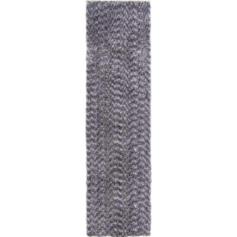 Solid Grey Machine Woven Area Rug