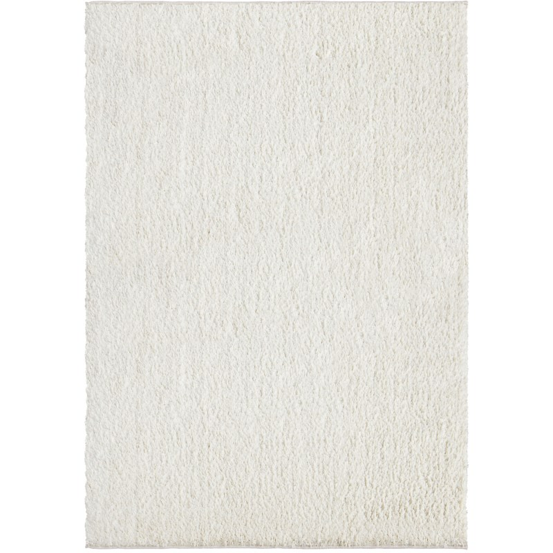 Solid White Machine Woven Area Rug