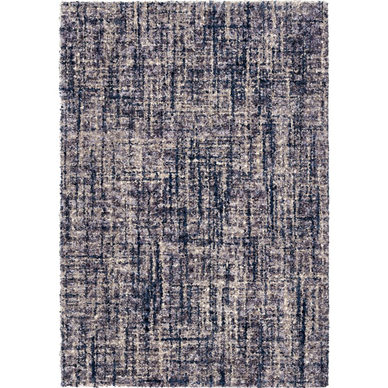 Cross Thatch Grey Machine Woven Area Rug