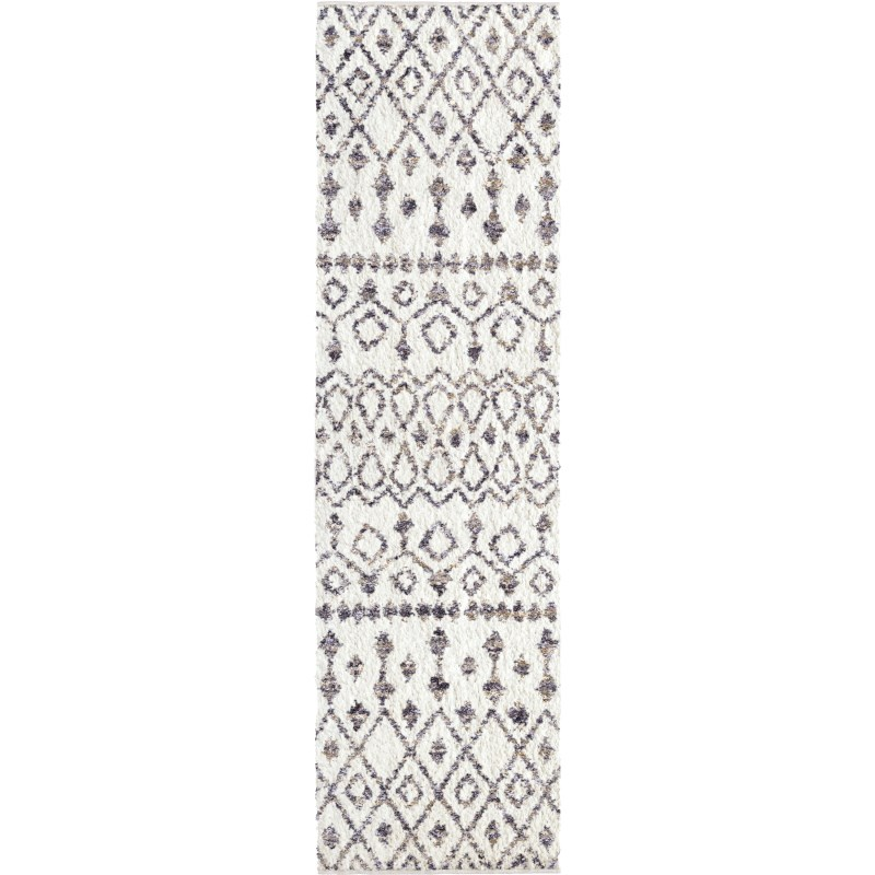 Nardik  Soft White Machine Woven Area Rug