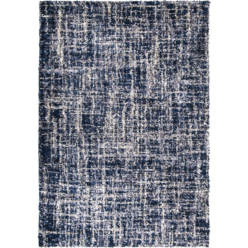 Cross Thatch  Navy Machine Woven Area Rug