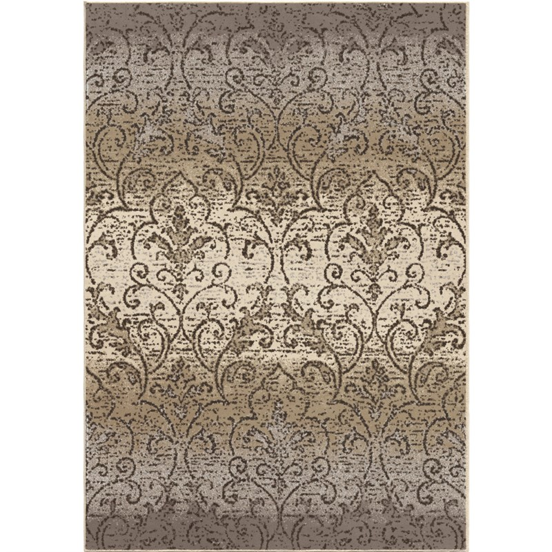 Orian Rugs Soft Scroll Fontaine Gray Area Rug 5'3 X 7'6