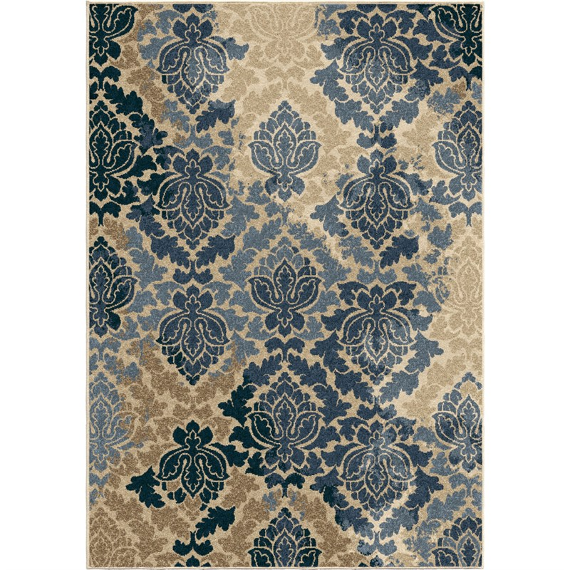 Orian Rugs Indoor/outdoor Leaves Allover Damask Multi Area Rug 5'2 X 7'6