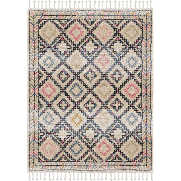 Orian Rabat Soft White 6'7 X 9'6